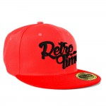 RETRO TIME Snapback - red+black