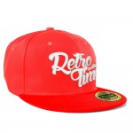 RETRO TIME Snapback - red+white