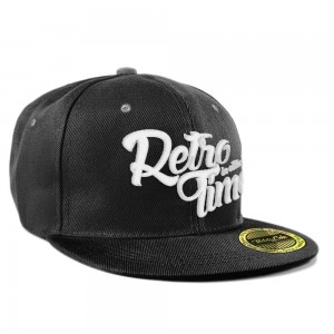 RETRO TIME Snapback - black