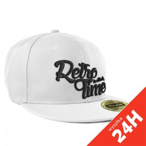 RETRO TIME Snapback - white